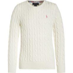 Polo Ralph Lauren CLASSIC Sweter warm white. Białe swetry chłopięce Polo Ralph Lauren, z bawełny, polo. W wyprzedaży za 258,30 zł.