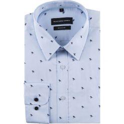 Koszula SIMONE KDWR000511. Niebieskie koszule męskie na spinki Giacomo Conti, m, z tkaniny, z klasycznym kołnierzykiem, z długim rękawem. Za 199,00 zł.