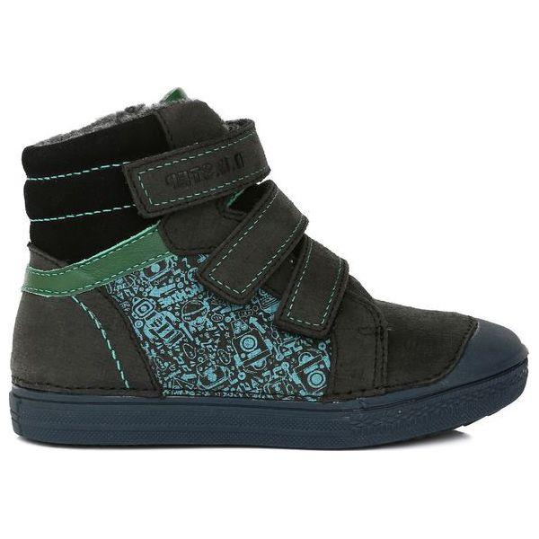0d212e5f D-D-Step Buty Dla Chłopców Z Robotami 25 Czarny - Czarne buty ...