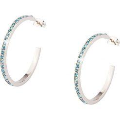 Kolczyki damskie: Kolczyki pół-kreole ze szklanymi kryształkami