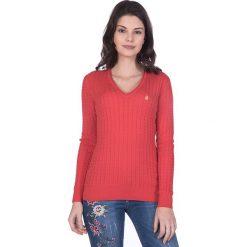 """Swetry klasyczne damskie: Sweter """"Gullane"""" w kolorze czerwonym"""
