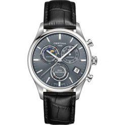 PROMOCJA ZEGAREK CERTINA DS-8 CHRONO MOONPHASE PRECIDRIVE C033.450. Szare zegarki męskie CERTINA, ze stali. W wyprzedaży za 2719,21 zł.