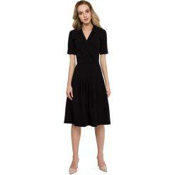 Czarna Elegancka Sukienka z Kopertowym Kołnierzem. Niebieskie sukienki balowe marki Mohito. Za 135,90 zł.