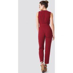 Kombinezony damskie: Trendyol Kombinezon z wiązaniem w talii - Red
