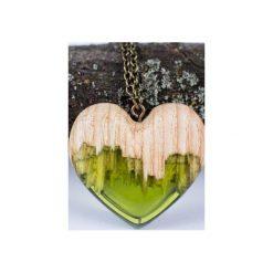Drewniany naszyjnik zielone serce. Zielone naszyjniki damskie Bewoody. Za 160,00 zł.