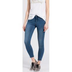 Only - Jeansy. Szare jeansy damskie rurki marki ONLY, s, z bawełny, casualowe, z okrągłym kołnierzem. W wyprzedaży za 89,90 zł.