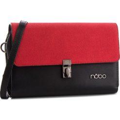 Torebka NOBO - NBAG-F2350-C020 Czarny Z Czerwonym. Czarne listonoszki damskie marki Nobo, z materiału. W wyprzedaży za 139,00 zł.
