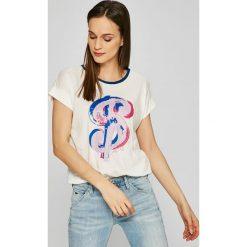 Andy Warhol by Pepe Jeans - Top Marias. Szare topy damskie Andy Warhol by Pepe Jeans, l, z nadrukiem, z bawełny, z okrągłym kołnierzem. W wyprzedaży za 129,90 zł.