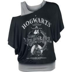 Bluzki asymetryczne: Harry Potter Hogwarts - Yule Ball Koszulka damska czarny/szary