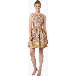 Swing - Damska sukienka koktajlowa, złoty. Żółte sukienki hiszpanki Swing, w kwiaty, wizytowe, bez rękawów. Za 449,95 zł.