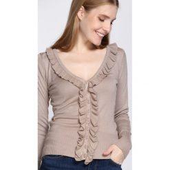 Ciemnobeżowy Sweter If You See Kay. Szare swetry klasyczne damskie marki Mohito, l. Za 14,99 zł.