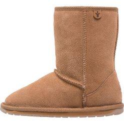 EMU Australia WALLABY  Śniegowce chestnut. Czarne buty zimowe damskie marki Superfit, z gore-texu, przed kolano, na wysokim obcasie. Za 319,00 zł.