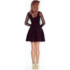 Irene Sukienka z TIULOWYMI rękawkami - CZARNA. Czarne sukienki balowe numoco, s, z tiulu, z falbankami. Za 189,00 zł.