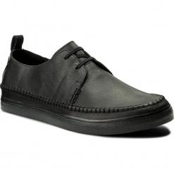Półbuty CLARKS - Kessell Craft 261337497 Black Leather. Czarne derby męskie Clarks, ze skóry ekologicznej. Za 369,00 zł.