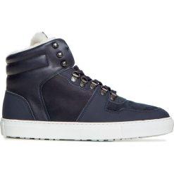 63664b2c34759 Buty FUSALP PAUL Granatowy. Niebieskie buty zimowe sportowe męskie Fusalp,  za kostkę, bez