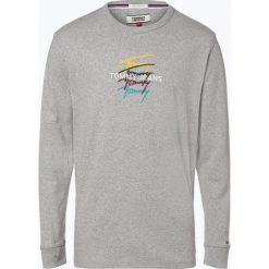 Tommy Jeans - Męska bluza nierozpinana, szary. Szare bejsbolówki męskie Tommy Jeans, m, z haftami, z jeansu. Za 249,95 zł.