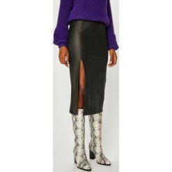 Answear - Spódnica Nomad. Szare spódniczki ANSWEAR, l, z elastanu, z podwyższonym stanem, midi, ołówkowe. Za 119,90 zł.