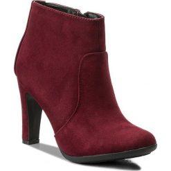 Botki JENNY FAIRY - LS4258-01 Bordowy. Czerwone buty zimowe damskie Jenny Fairy, z materiału. W wyprzedaży za 60,00 zł.