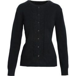 Swetry klasyczne damskie: Czarny Sweter Reveal of My Heart