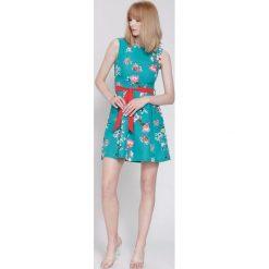 Sukienki hiszpanki: Zielona Sukienka Spring Wind