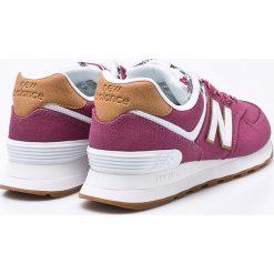 New Balance - Buty WL574SYF. Szare buty sportowe damskie New Balance, z materiału. W wyprzedaży za 299,90 zł.