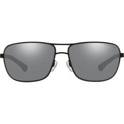 Emporio Armani - Okulary 0EA2033. Szare okulary przeciwsłoneczne męskie marki Emporio Armani, l, z nadrukiem, z bawełny, z okrągłym kołnierzem. Za 739,90 zł.