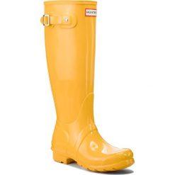 Kalosze HUNTER - Org Tall Gloss WFT1000RGL Yellow. Żółte buty zimowe damskie Hunter, z kauczuku. W wyprzedaży za 409,00 zł.