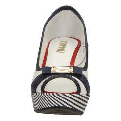 CZÓŁENKA CARINII B2097-96. Szare buty ślubne damskie Casu, na koturnie. Za 209,99 zł.