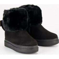 ŚNIEGOWCE Z FUTERKIEM VINCEZA. Czarne buty zimowe damskie marki Vinceza. Za 109,90 zł.