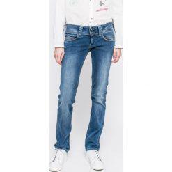 Pepe Jeans - Jeansy Venus. Niebieskie proste jeansy damskie marki Pepe Jeans, z obniżonym stanem. W wyprzedaży za 299,90 zł.