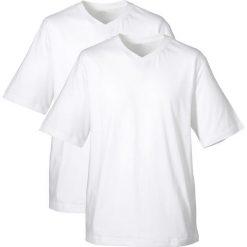 T-shirty męskie: T-shirt (2 szt.) bonprix biały + biały