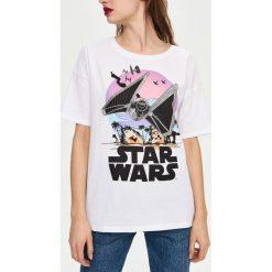 T-shirty damskie: T-shirt z nadrukiem star wars - Biały