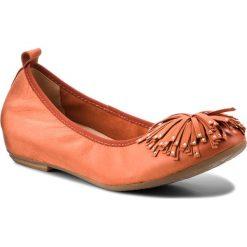 Półbuty CAPRICE - 9-22121-20 Orange Nubuc 609. Brązowe półbuty damskie na koturnie Caprice, z materiału. W wyprzedaży za 189,00 zł.