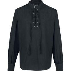 Banned Alternative Schnürhemd mit Schnalle Koszula czarny. Czarne koszule męskie na spinki marki Gino Rossi, z gumy, ze sznurowanym dekoltem. Za 184,90 zł.