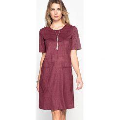 Sukienki hiszpanki: Sukienka z ozdobnego, sztucznego zamszu