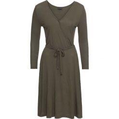 Sukienki hiszpanki: Sukienka z dżerseju bonprix ciemnooliwkowy