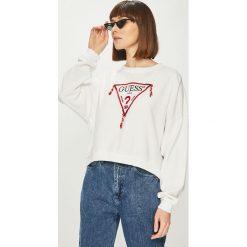 Guess Jeans - Bluza. Szare bluzy z nadrukiem damskie Guess Jeans, l, z bawełny. Za 369,90 zł.