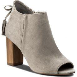 Botki JENNY FAIRY - WS17056  Szary. Szare buty zimowe damskie Jenny Fairy, z materiału, na obcasie. W wyprzedaży za 99,99 zł.