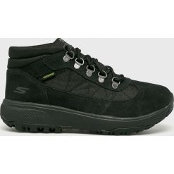 Skechers - Buty. Czarne buty trekkingowe damskie Skechers. Za 339,90 zł.