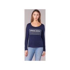 T-shirty z długim rękawem Armani jeans  LAMORET. Niebieskie t-shirty damskie Armani Jeans, z jeansu. Za 300,30 zł.