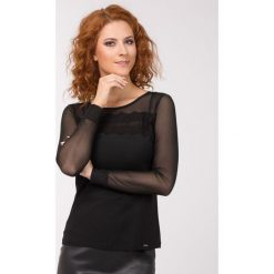 Bluzki asymetryczne: Wieczorowa bluzka z koronki