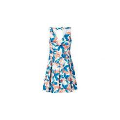 Sukienki krótkie Naf Naf  ESUNSET R1. Szare sukienki mini marki NAF NAF, z krótkim rękawem. Za 343,20 zł.
