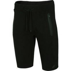 Bermudy męskie: Spodenki dresowe męskie SKMD253 - głęboka czerń