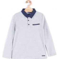 Koszulka. Niebieskie t-shirty chłopięce z krótkim rękawem marki S.Oliver, z nadrukiem, z bawełny. Za 39,90 zł.