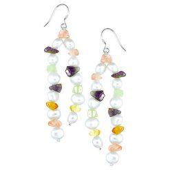 Kolczyki damskie: Kolczyki z perłami i kamieniami