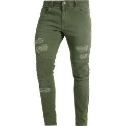 YOURTURN Jeansy Slim Fit khaki. Brązowe jeansy męskie YOURTURN. W wyprzedaży za 134,10 zł.