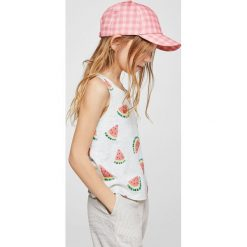 Mango Kids - Top dziecięcy Tankg 104-164 cm. Szare bluzki dziewczęce Mango Kids, z bawełny, z okrągłym kołnierzem. Za 29,90 zł.