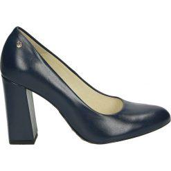 Czółenka - 17-40OB P BLU. Szare buty ślubne damskie Venezia, ze skóry. Za 299,00 zł.