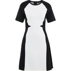 Sukienki: KARL LAGERFELD FLARE DRESS Sukienka dzianinowa black/white