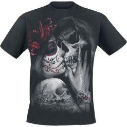 Spiral Dead Kiss T-Shirt czarny. Niebieskie t-shirty męskie z nadrukiem marki Reserved, l, z okrągłym kołnierzem. Za 74,90 zł.